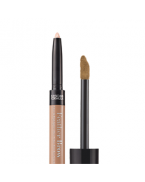 Eye Booster Feather Brow Fiber & Highlighter Duo - Light Brown